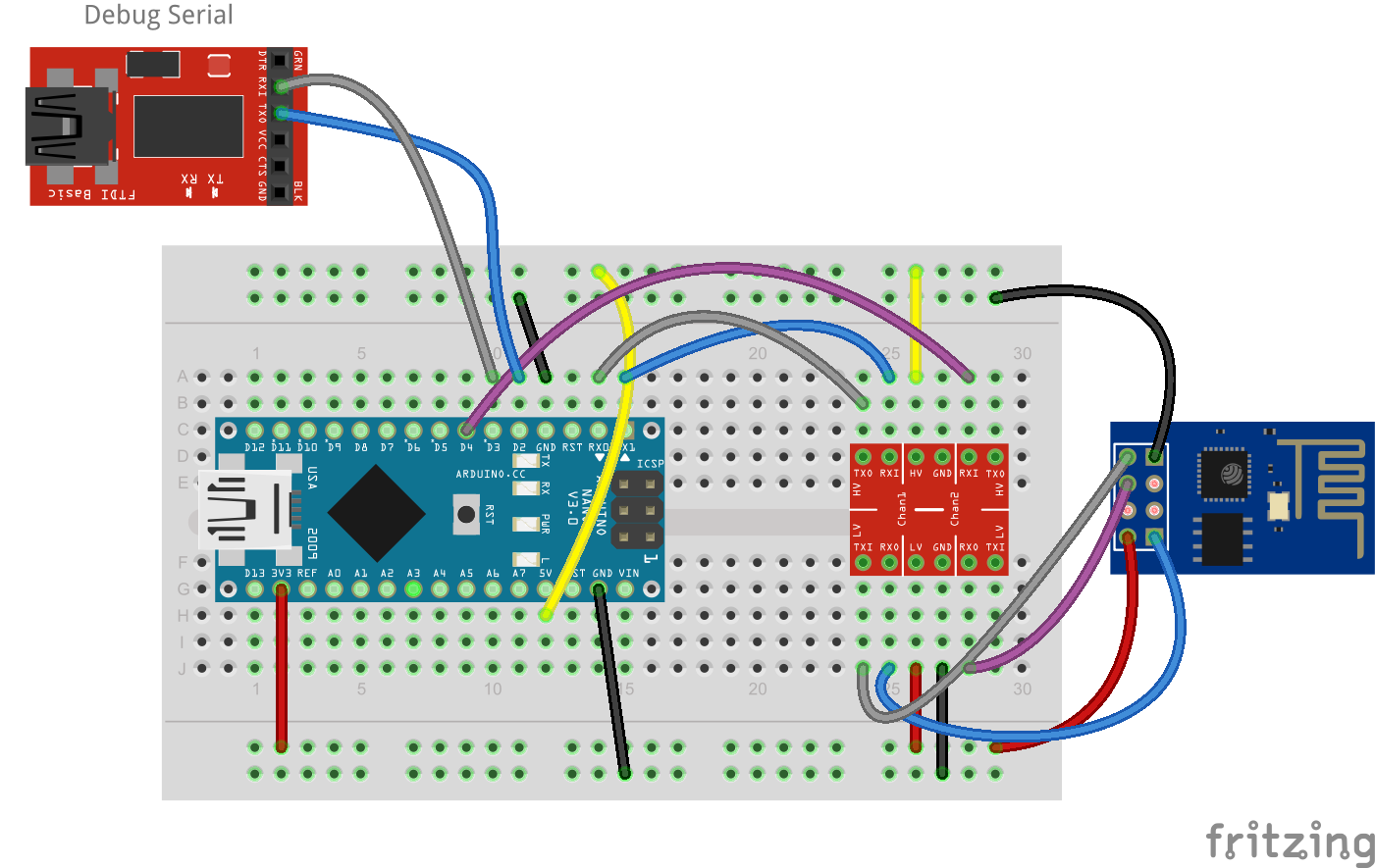 Connect arduino to esp wifi module how linux
